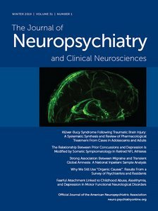 Journal of Neuropsychiatry and Clinical Neurosciences